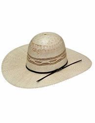 Twister Men's Open Range Bangora Straw Crown Hat Tan 7 1 4