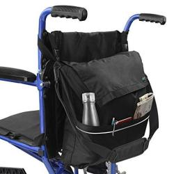 Vive Wheelchair Bag - Wheel Chair Storage Tote Accessory For Carrying Loose Items And Accessories - Travel Messenger Backpack Fo