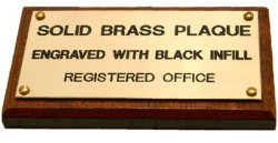 Brass Plaque 80X40MM On Wood Backing