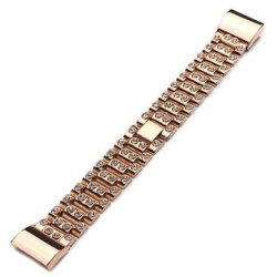 Rhinestone Metal Watch Band Replacement For Fitbit Charge 2