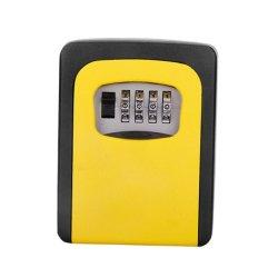 Key Storage Lock Box With 4 Digit Combination - Yellow