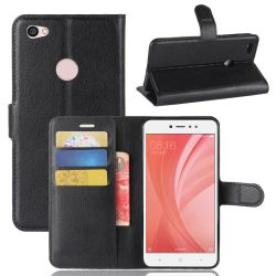 Tuff-Luv Xiaomi Redmi Note 5A - Classic Wallet Card And Phone Holder - Black