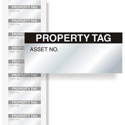 """MyAssetTag Property Tag Aluminum Foil Label 350 Labels Pack 1.5"""" X 0.625"""