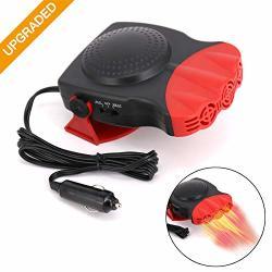 Automarketbiz Gray 12v 150W Car Windshield Defogger Heater Portable Auto Heater Fan Car Electric Heater Defroster Demister