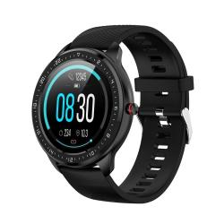 Z06 Fashion Smart Sports Watch 1.3 Inch Full Touch Screen 5 Dials Change IP67 Waterproof Support Heart Rate Blood Pressure Monitoring Sleep Monitoring Sedentary Reminder Black