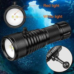 Odepro WD42W 120 Degrees Beam Angle Scuba Diving Photography Light With 1500 Lumens White Light And 350LUMENS Red Light For Underwater Photography 2P