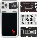 Ink - Red Stick On Credit Card Holder For Mobile Phone By Gecko - Card Holder For Cellphone - Phone Wallet - Cellphone Accessory