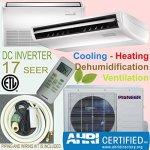Pioneer Air Conditioner UYB024GMFILCAD Pioner Floor Ceiling Split Ductless Inverter And Heat Pump System Set 24000 Btu 24 000 Bt