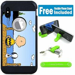 Limited Editions For Apple Iphone XS Max Defender Rugged Hard Cover Case - Peanuts Snoopy Budu V