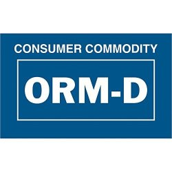 """Consumer Commodity Orm-d"""" Labels stickers 1 3 8"""" X 2 1 4"""" Blue white 500 Labels Per Roll 1 Roll"""