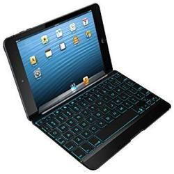 Zagg Cover With Backlit Bluetooth Keyboard For Apple Ipad MINI 1 MINI 2 Ipad MINI 3- Black