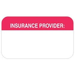 "Tabbies Insurance Labels 1-1 2""W X 7 8""H - 250 Labels Per Roll"