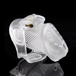 YiFeng Cock Cage Locked Chastity Device Male Briefs Sex Toy For Men With Discreet Packing Clear Short