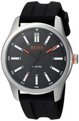 Boss Orange Hugo Boss Men's 'dublin' Quartz Stainless Steel And Rubber Casual Watch Color:black Model: 1550042