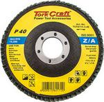 Tork Craft Flap Disc Zirconium 115mm 40 Grit Flat