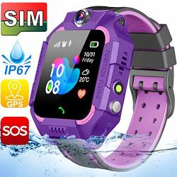 ?sim Card Included? Kids Smart Watches-gps Tracker Smart Watch Phone For Boys Girls -waterproof Smartwatch With Sos Games Touch Digital Wrist Watch Holiday Toys