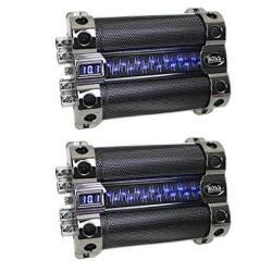 Boss 18 Farad Digital Car Audio Capacitor Cap W digital Light Show 2 Pack
