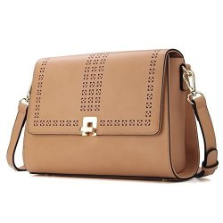 81673fc2eed9 Kadell Women Vintage Leather Messenger Bag Hollow Out Small Flap Bag  Crossbody Shoulder Bag Khaki | R2540.00 | Fancy Dress & Costumes |  PriceCheck SA