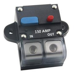 Circuit Breaker Stereo Audio Inline Fuse Inverter 72V DC 150A for Trolling Motor Auto Car Marine Boat Bike Waterproof