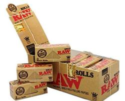 Raw Rolls Classic Rolling Paper King Size 55MM 3 Meter 9' Full Box Of 12 Pack