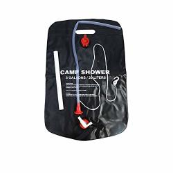 Vbestlife Solar Shower 5GALLONS 20LITERS Portable Solar Heated Shower Camping Water Bathing Bag Outdoor Travel Hiking