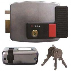 Cisa Elec Rim Lock Lhi Open W Button