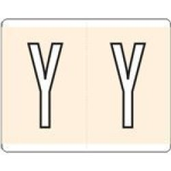 "Kardex Compatible 1575 1550 Color Code Label Permanent Alpha""y"" 1 5 8"" X 1 1 4"" Tan Pack Of 500"