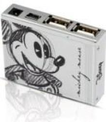 Disney Mickey Mouse MINI Hub USB2.0 - Transfer SPEED:480MBPS Retail Packaged