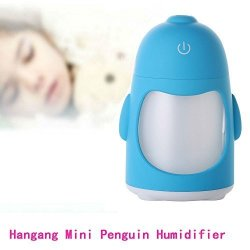 Changsha Hangang Technology Ltd Hangang MINI Penguin Humidifier Night Light USB Portable Micro Molecular Water Mist LED 7 Colors Supply Cool Automatic Timing Environment Humidification For Baby