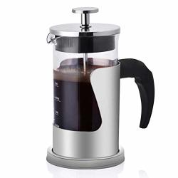 Gototop French Press Coffee Maker 20 Oz 304 Stainless Steel Coffee Press Pot Double Wall Insulated Retains Heat Longer Great For Home Office Restaurant Cafe
