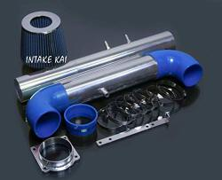 Performance Air Intake Kit + Filter For 2000-2002 Lincoln Ls 3.9 3.9L 2002 Ford Thunderbird 3.9L V8 Engine Blue