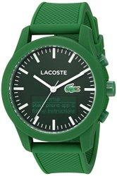 Lacoste Men&apos S &apos 12.12-TECH&APOS Quartz Plastic And Rubber Smart Watch Color:green