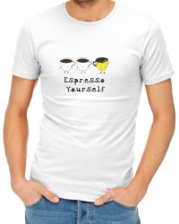 Espresso Yourself Mens T-Shirt - White Large