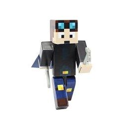 Boy Miner Action Figure Toy 4 Inch Custom Series Figurines Endertoys