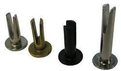 "HANSON RIVET Split Rivet - 1 8"" Diameter X 5 16"" Length 7 32"" Head Diameter Steel Oval Head Nickel Plated. Pack Of 500 ."