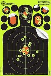 Splatterburst Targets - 8 X 12 Inch Adhesive MINI Silhouette - Stick & Splatter Shooting Targets - Gun - Rifle - Pistol - Airsof