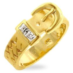 Gold Buckle Ring Usa Import - Ls 1673
