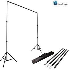 LimoStudio Photo Video Studio 10ft Adjustable Muslin Background Backdrop Support System Stand Agg1112