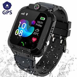 KIDS Smart Watch Gps Tracker - IP67 Waterproof Smartwatch Phone For HD Touch Screen Sos Call Voice Chat Digital Wrist Watch Alarm Clock
