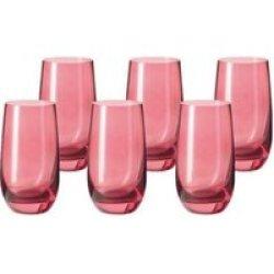 LEONARDO Tall Drinking Glass Ruby Red Sora 6 Piece