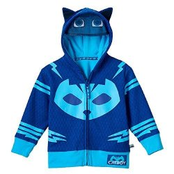 GRACES Toddler Child Animated Show Pj Catboy Blue Zip-up Costume Hoodie Size 7 8 Blue