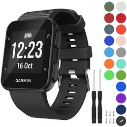Gvfm Band Compatible With Garmin Forerunner 35 Soft Silicone Replacement Watch Band Strap For Garmin Forerunner 35 Smart Watch Fit 5.11-9.05 Inch 1