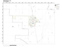 Working Maps Zip Code Wall Map Of Mcfarland Ca Zip Code Map Not Laminated
