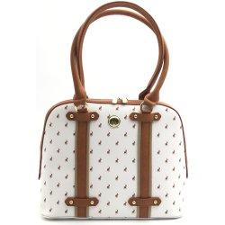 Polo Heritage Dome Handbag White