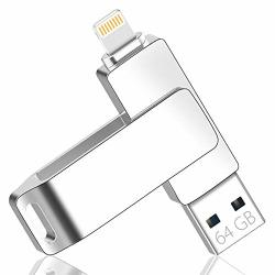 Maifeituo 64GB USB Flash Drive Compatible With Iphone Ipad Multi-connector Memory Stick USB 3.0 Mfi Certified Apple Extended Lightning Port For Ios Windows Devices Data