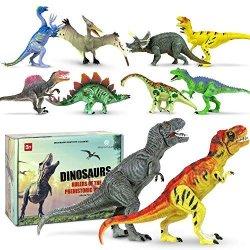 Athena Futures Inc. Athena Futures Dinosaur Toys 18 Items Super Set Boys Girls Kids - 3 4 5 6 + Year Old Age Gift Jurassic Age Park