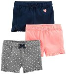 Carter's Simple Joys - Private Label Simple Joys By Carter's Girls' Toddler 3-PACK Knit Shorts Pink.gray Navy 2T