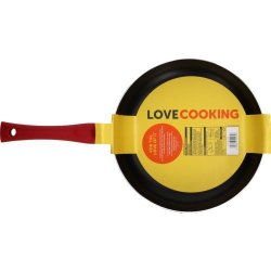 Love Cooking Non-stick Aluminium Frying Pan 26cm Red