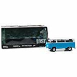 Volkswagen 1971 Type 2 T2B Dharma Van Blue With White Top Lost 2004-2010 Tv Series 1 24 Diecast Model By Greenlight 84033
