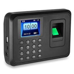 LIBO Smart Home Libo Biometric Fingerprint Time Attendance Machine  Fingerprint Time Clock System 2 4INCH Screen Support USB Record 600 User  Capacity |